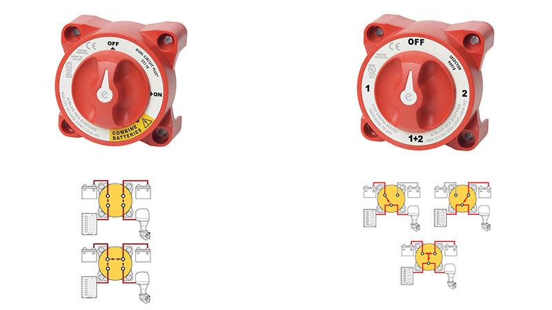 Переключатели для различных схем подключения аккумуляторов
