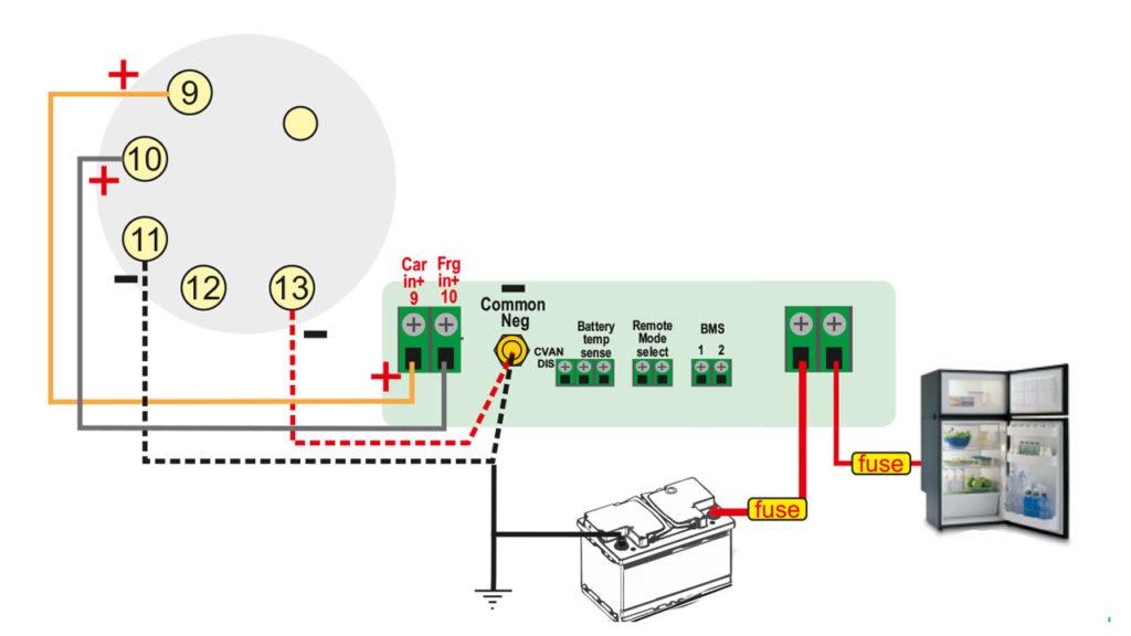 Схема подключения зарядного устройства Sterling Power BBC1225