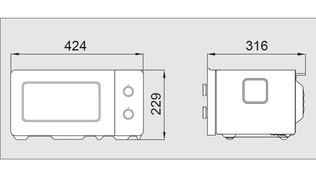Габаритные размеры микроволновой печи для кемпера