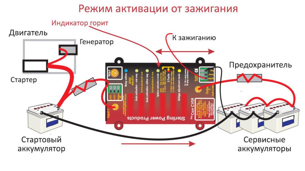 Схема подключения развязывающего реле